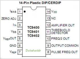 TC1043C pinout,Pin out