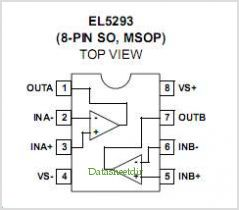EL5293A pinout,Pin out