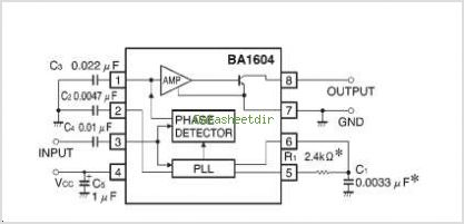 BA1604F circuits
