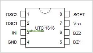 UTC1616 pinout,Pin out