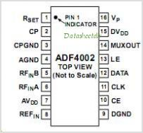 ADF4002 pinout,Pin out