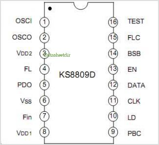 KS8809 pinout,Pin out