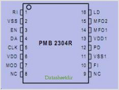 PMB2304R pinout,Pin out