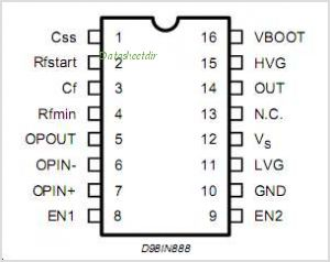 L6598 pinout,Pin out