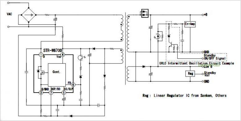 STR-W6754 datasheet, Pinout ,application circuits Power IC