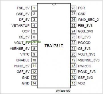 TEA1781 pinout,Pin out