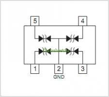 CPDT5-5V0 pinout,Pin out