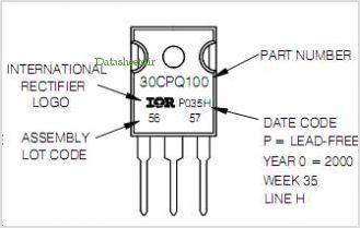 30CPQ080PBF pinout,Pin out