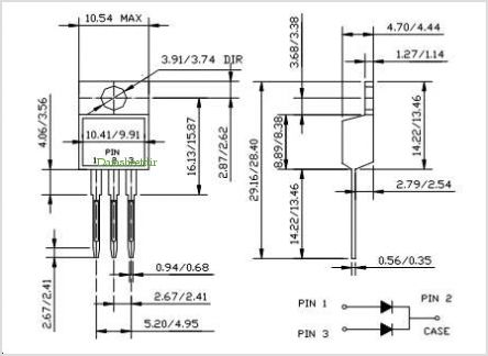 MBR1580CT pinout,Pin out