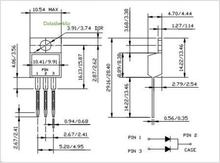 MBR3030CT pinout,Pin out