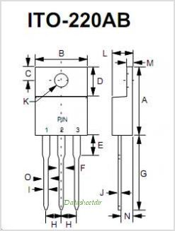 MBR16100FCT pinout,Pin out