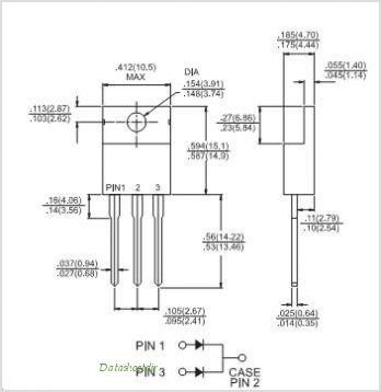 MBR25100CT pinout,Pin out