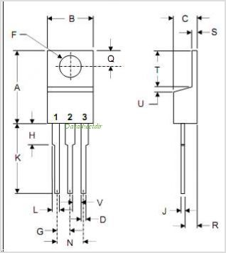 MBR2530CT pinout,Pin out