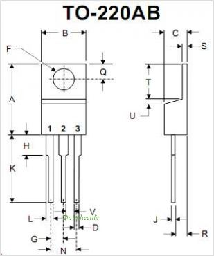 MBR3045CT pinout,Pin out