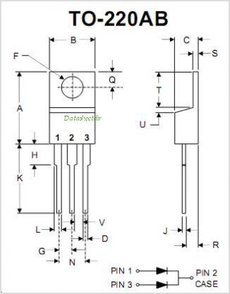 MBR10200CT pinout,Pin out