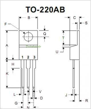 MBR2060CT pinout,Pin out