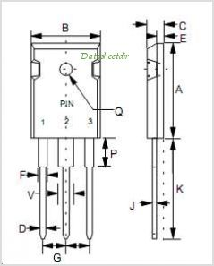MBR30100PT pinout,Pin out