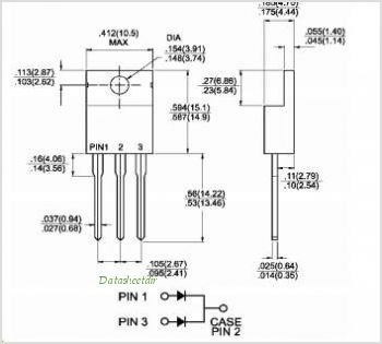 MBR10H100CT pinout,Pin out