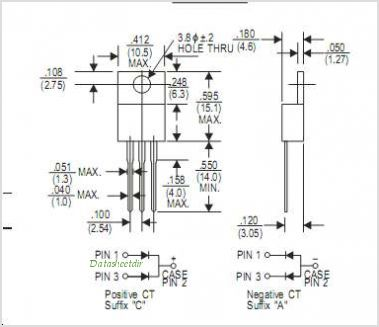 FR1607 pinout,Pin out