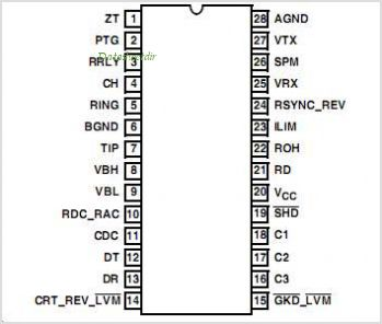 HC55142 pinout,Pin out
