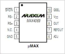 MAX4069 pinout,Pin out