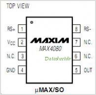 MAX4080 pinout,Pin out