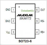 MAX4173 pinout,Pin out