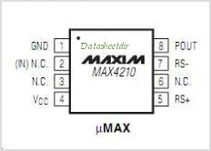 MAX4210 pinout,Pin out