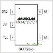 MAX4372TEBT-T pinout,Pin out