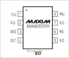 MAX4372H pinout,Pin out