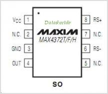 MAX4372T pinout,Pin out