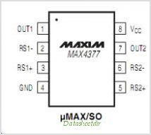 MAX4377 pinout,Pin out