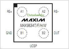 MAX9634 pinout,Pin out