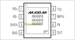 MAX9918 pinout,Pin out