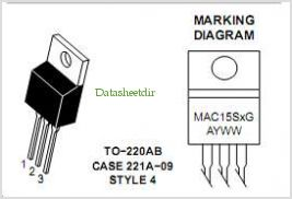 MAC15S pinout,Pin out