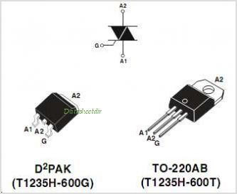 T1235H-600 pinout,Pin out