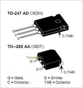 IXDT30N120 pinout,Pin out