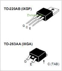 IXGA20N120 pinout,Pin out