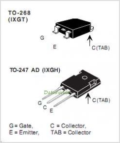 IXGH20N120B pinout,Pin out