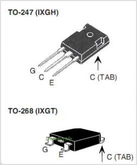 IXGH64N60B3 pinout,Pin out