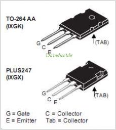 IXGK50N60C2D1 pinout,Pin out