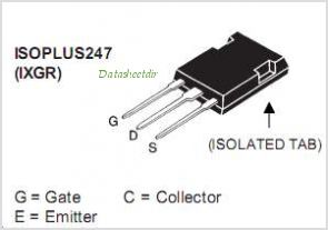 IXGR50N60C2D1 pinout,Pin out