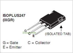 IXGR60N60C2D1 pinout,Pin out