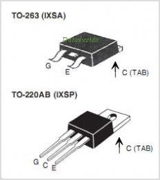 IXSA10N60B2D1 pinout,Pin out