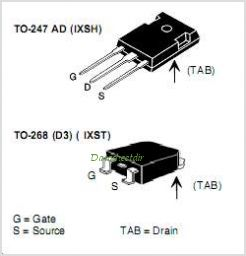 IXSH30N60B pinout,Pin out