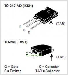 IXSH45N120B pinout,Pin out