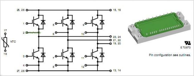MIXA40W1200TED pinout,Pin out