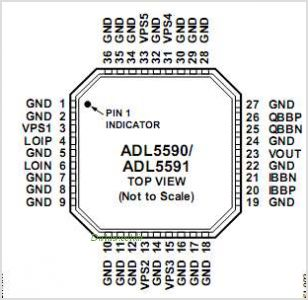 ADL5591 pinout,Pin out