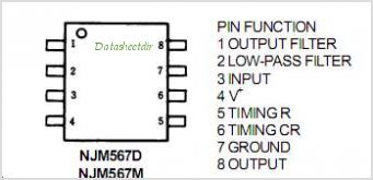 NJM567 pinout,Pin out