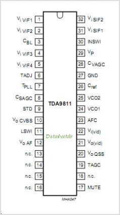 TDA9811 pinout,Pin out